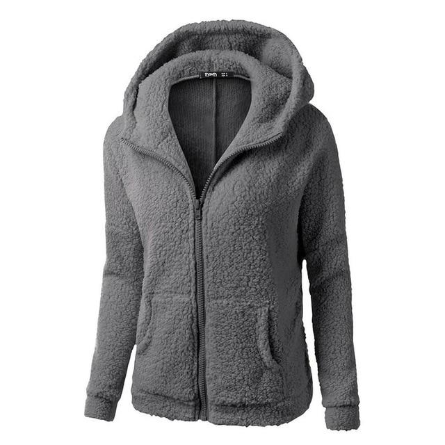 2019 Fall Black Gothic Plus Size 5XL Casual Women Hoodies Straight Hooded Zipper Pocket Plain Autumn Female Fashion Sweatshirts 1