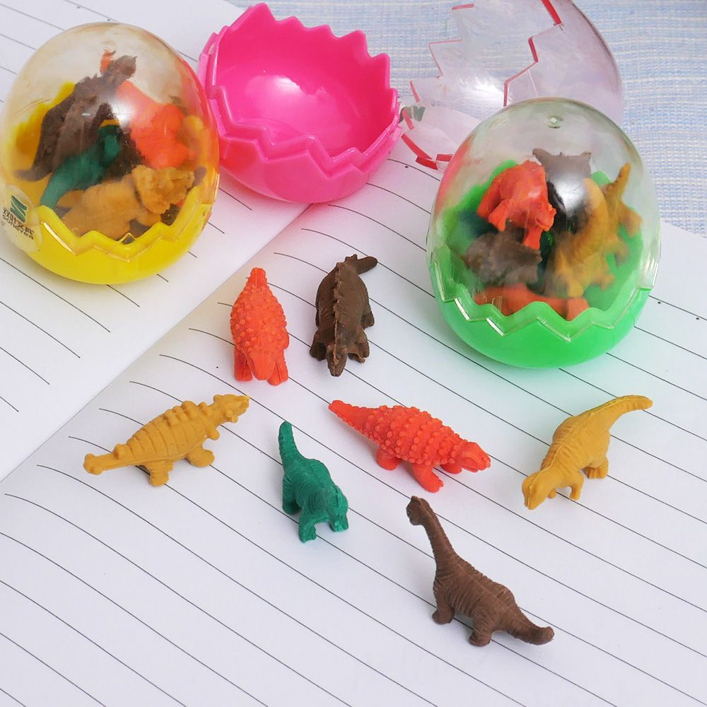 Devoted Animal Dinosaur Shape Pencil Eraser For Kids Student Prizes Rubber Erasers Promotional Gift Stationery Material Escolar Borracha And To Have A Long Life. Eraser Correction Supplies