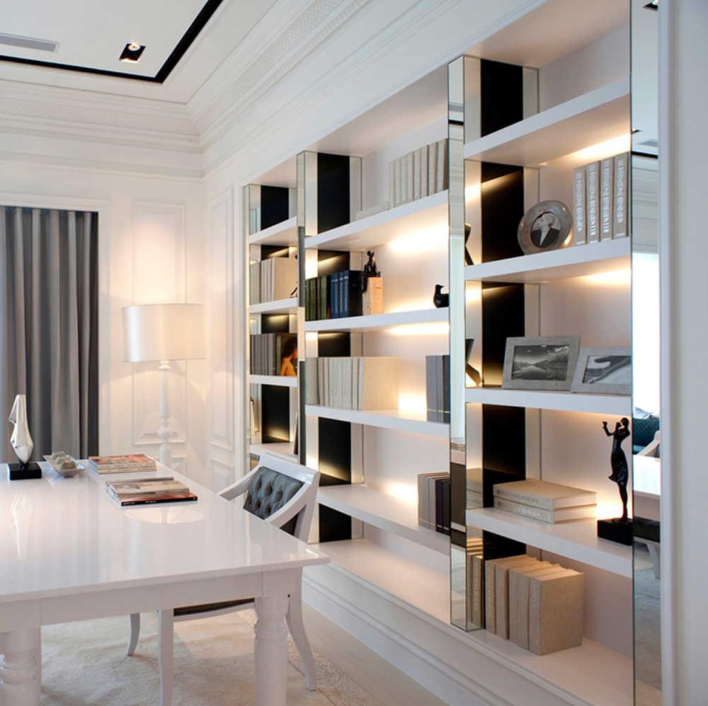 1 компл. 2 шт. 50 см 24 В светодиодный бар свет для Кухонные шкафы лампа сенсорный датчик диммер бесшовные подключение Ультра тонкий жесткий светодиодный полоски