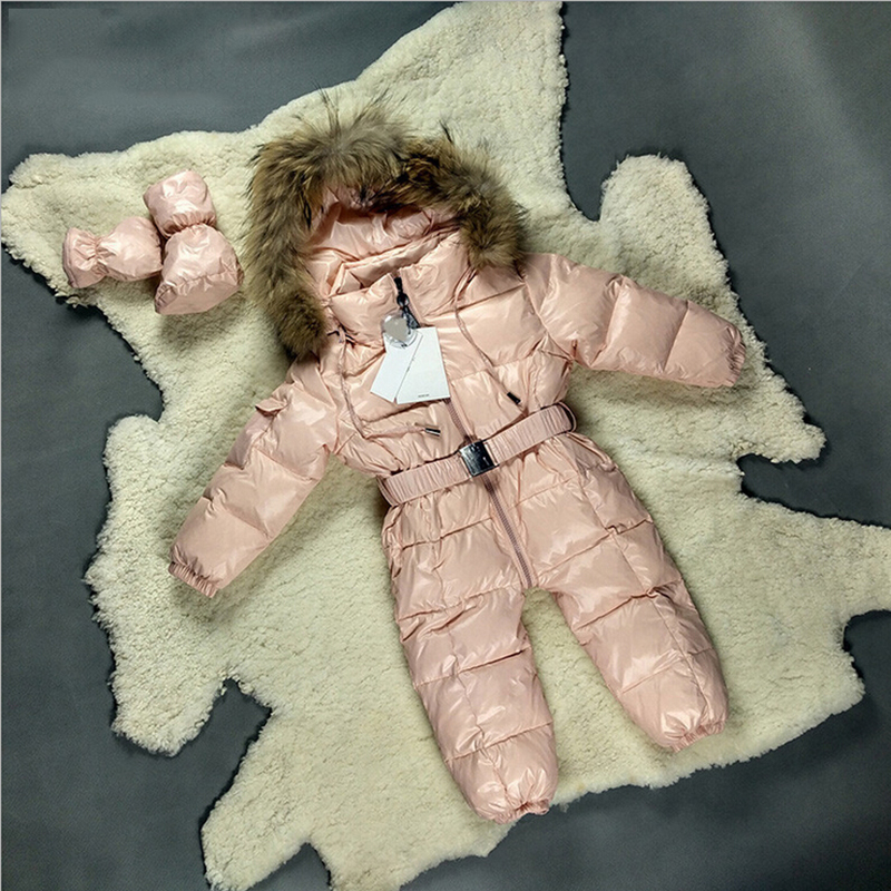 7f2cd4d3d Baby Snowsuit New Winter Boys One Piece Outfits Hooded Genuine ...