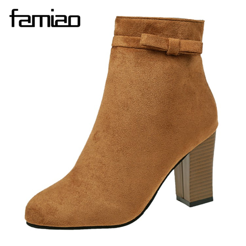 FAMIAO women boots sweet shoes ankle boots for women zapatos mujer winter boots 2017 zip pointed toe chaussure femme botas 2017 fashion women boots botas mujer zapatos mujer ankle boots for women thigh high boots chaussure femme bottes femmes 2016