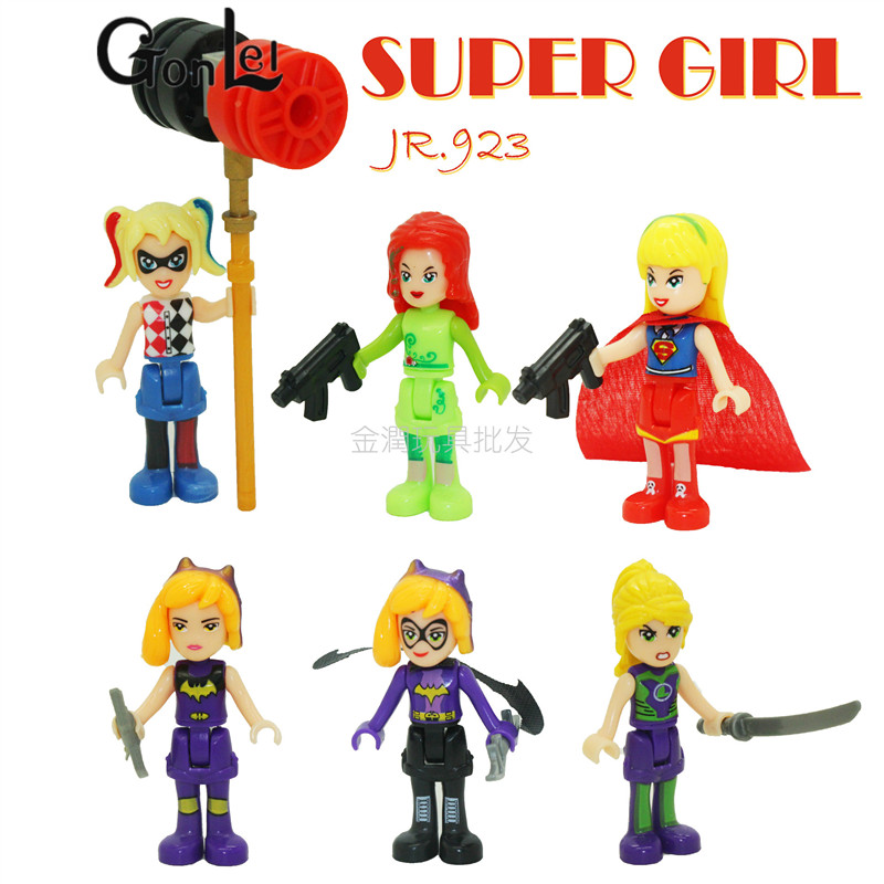 GonLeI DC Super Heroes Girls Wonder Woman Dorm Building Blocks Classic For Girl  Friends Kids Model