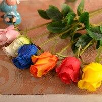 꽃병/인공 꽃 수입 고급 PU 단일 장미 꽃 장식 거실 장식 간단한 꽃 도매