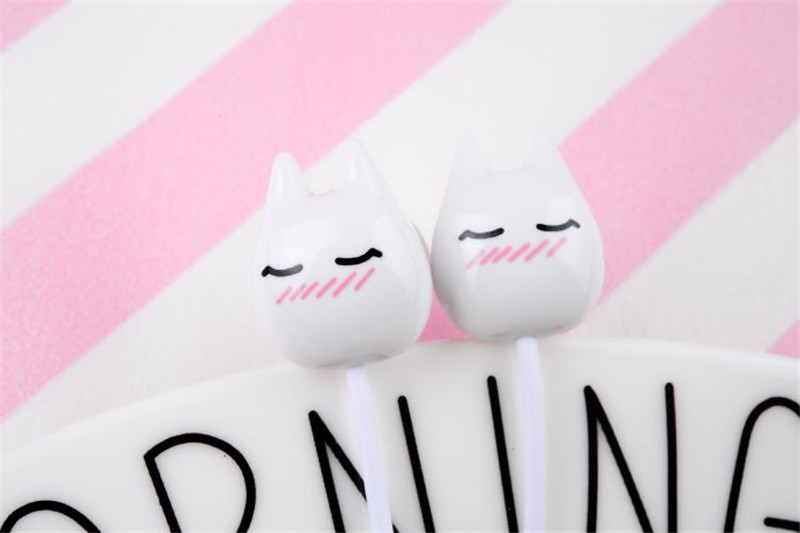 Chiclits Earphone Cute cartoon cat 3.5 mm stereo with mic In-ear headset for iPhone Xiaomi Girls Kids student for Mp3 Mp4 gifts (7)