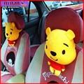 Car Headrest Neck Bolster winnie Car Accessories Cartoon Plush Car Headrest Supplies Neck Auto Safety Bolster Xmas Gift