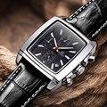 MEGIR Cronógrafo Relojes Reloj de Cuero Genuino de Los Hombres de Lujo Top Marca Escalada Militar Reloj relogio/ML2028K