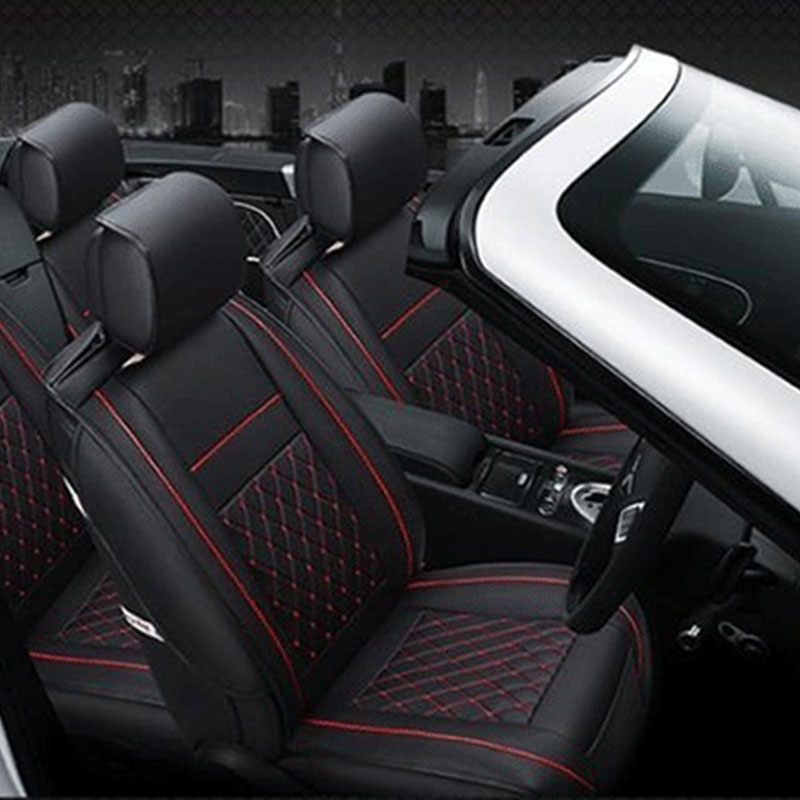 Vehemo PU Leather Car Front Seat Cover Waterproof Cushion for Safety Seats Prevent Scratches Dustproof for Non-Slip(China)