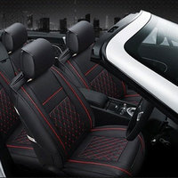 Vehemo PU Leather Car Front Seat Cover Waterproof Cushion for Safety Seats Prevent Scratches Dustproof for Non Slip