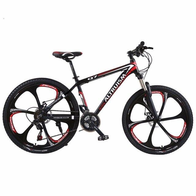 Altruism Q7 Горный Велосипед 21 Скорость 26 Дюймов Мужчины и Женщины Высокого Качества BIikes Двойной Дисковый Тормоз Велосипед Дорожные велосипеды