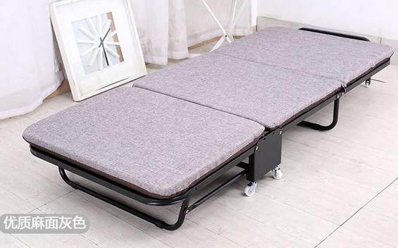 Раскладная кровать, дополнительная кровать для отеля - Цвет: linen blue W65cm