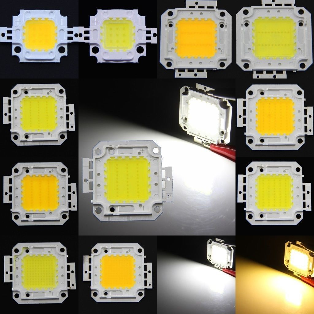 10W 20W 30W <font><b>50W</b></font> 100W LED Chips Light Super Bright High Power LED Bead for Floodlight Spotlight White / Warm White / RGB image