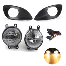 1 Pair H11 55W 3500K Yellow Front Bumper Fog Lights w Switch For Toyota Yaris Sedan