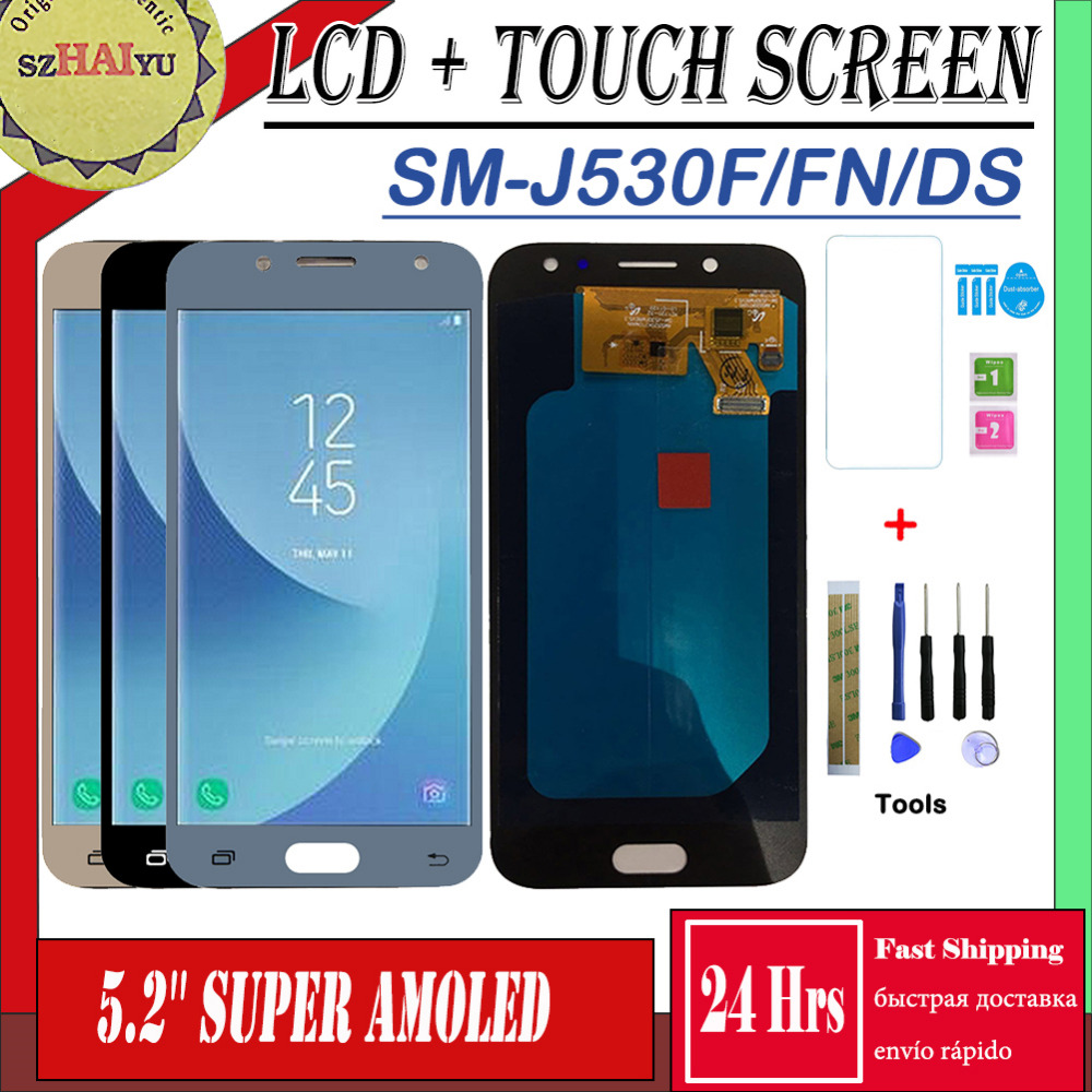 SZHAIYU HD Super AMOLED For Samsung Galaxy J5 Pro 2017 J530 J530F J530FN LCD Display Screen Touch Pancel J530 LCDSZHAIYU HD Super AMOLED For Samsung Galaxy J5 Pro 2017 J530 J530F J530FN LCD Display Screen Touch Pancel J530 LCD
