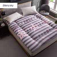 0.9x2m printed foldable thick single bed mattress student dormitory tatami yoga bed couch massage spring mattress topper pad mat