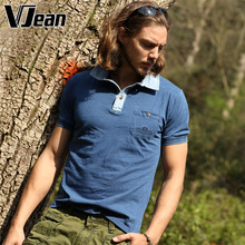 V JEAN Men's Essential Polo Shirt Cotton with Pocket