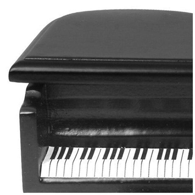 ABWE meilleure vente nouveauté 112 maison de poupée Miniature en bois Piano et tabouret (noir)