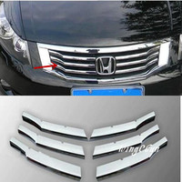 6Pcs Set ABS Chrome Plated Front Grill Article Decoration For Honda Accord 2008 2013 Accessories