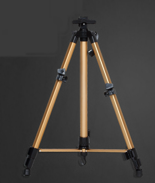 6 color Aluminum Alloy metal easel small hand easel palette rack telescopic easel triangle display easel high quality