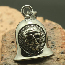 Pendant Skull-Bell Stainlesss 316L Mens Cool Beard Steel Flame-Caps Party-Band Double-Sided-Pattern