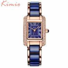 KIMIO Most Fashion Best Quality Ceramic Bracelet Ladies Watches Top Brand Luxury Rose Gold Womens Watches