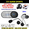 2pcs Lot Newest Motorcycle Helmet Intercom Headset FM Radio LCD Visible Screen TOM SC