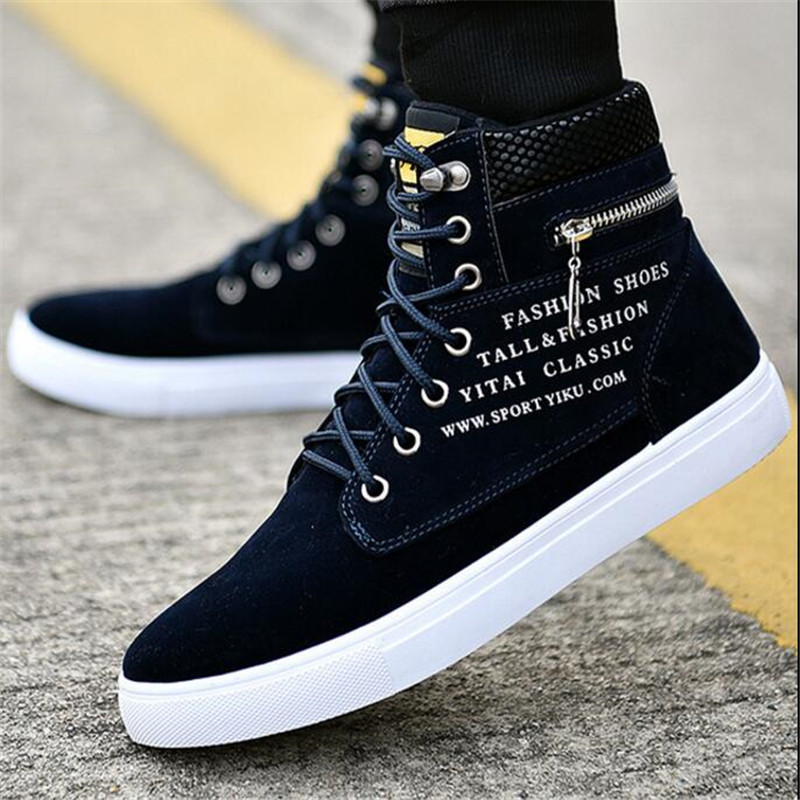 ELGEER Spring autumn new trend wild move sneakers high help Sneakers men's shoes canvas fashion casual shoes sportsrunning