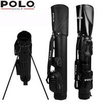 ماركة بولو حقيقي جديد كرة الغولف حزمة القياسية للماء pu المهنية دعم rackbag الأسود بندقية حقيبة التجارية الرجال حقيبة غطاء
