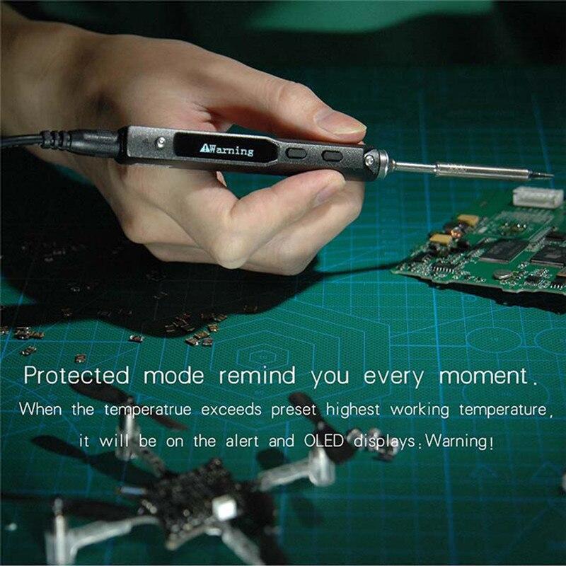 TS100 Stylo-type MINI Programmable Intelligent Réglable Numérique LCD Électrique À Souder Fer À Souder Station de Haute Qualité