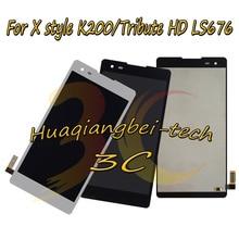 חדש 5.0 עבור LG X סגנון K200 K200DS מלא LCD תצוגה + מסך מגע Digitizer עצרת עבור LG מחווה HD LS676 100% נבדק