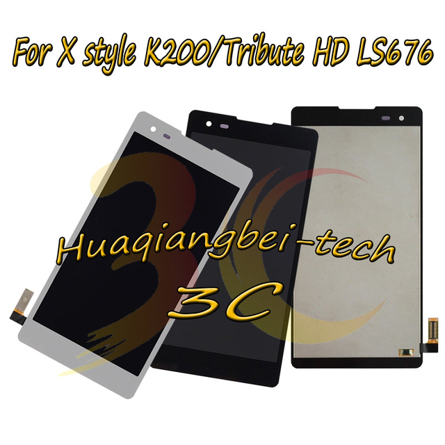 New 5.0 For LG X style K200 K200DS Full LCD DIsplay + Touch Screen Digitizer Assembly For LG Tribute HD LS676 100% Tested