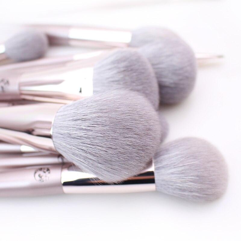 CHMAKE 16pcs acrylic Rose Gold Makeup brushes set Professional Beauty Make up brush Foundation Powder Blusher brush Goat hair-in Eye Shadow Applicator from Beauty & Health    3