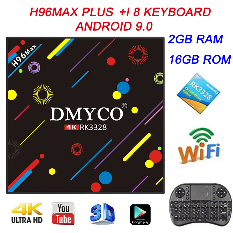 Android 9.0 Smart TV Box H96 MAX PLUS 2GB 16GB With KeyBoard RK3328 Quad Core Youtube 4K USB 3.0 H.265  WiFi 2.4G5G Set Top Box-in Set-top Boxes from Consumer Electronics    1