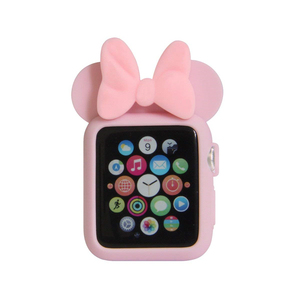 Для Apple Watch Series 1 2 3 4 Mouse Женский мягкий силиконовый защитный чехол с Минни Маус для 38 мм 42 мм 40 мм 44 мм