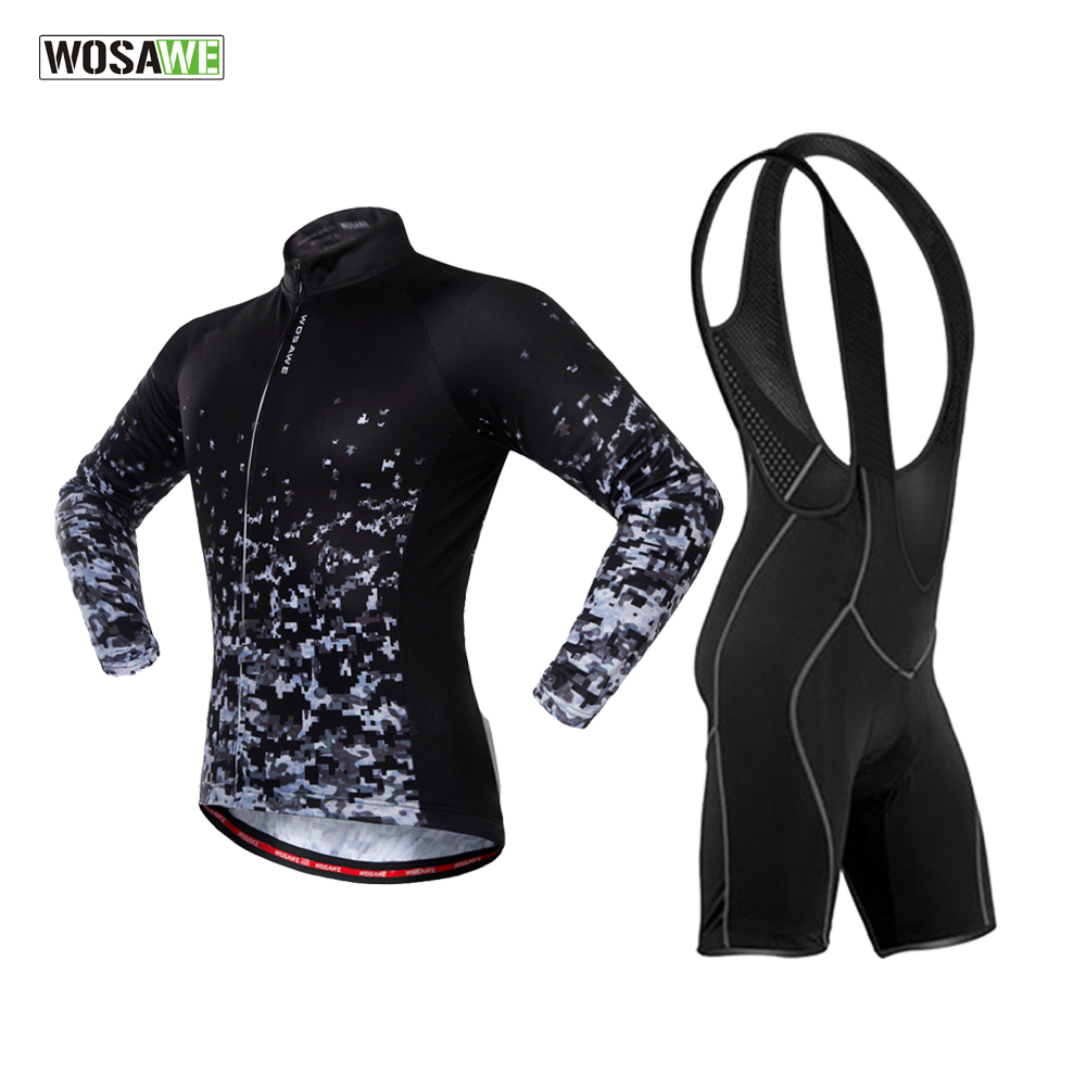 WOSAWE Cycling MTB Jersey Sets Summer Autumn Ropa Ciclismo Bicycle Clothing Outdoor Riding Sports Clothes