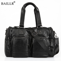 2019 New High Quality Men's Travel Bags Solid Zipper Men PU Lether Bag Travel Duffle Bag Large Capacity Luggage Tote Wholesale