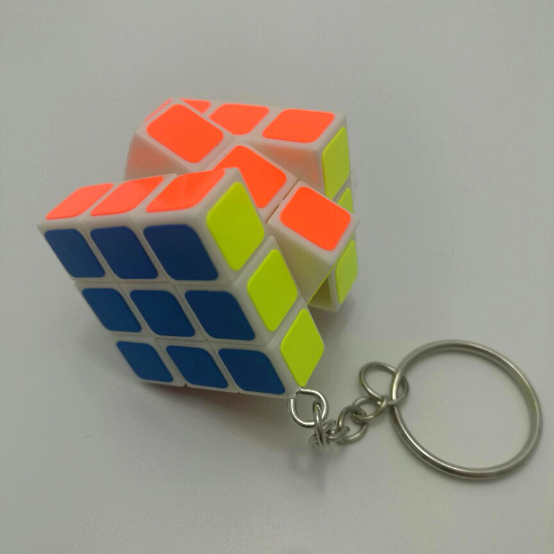 300pcs April Du Super Mini 3cm 3x3x3 ABS Magic Cube Puzzle Anti-stress Toy Education Mind Game Kids magic board key chain d11