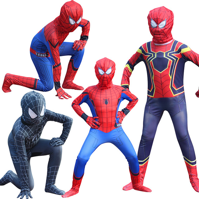 8cbe560e04f Red Halloween Fancy Dress Costumes for Kid Spiderman Amazing Costume  Spiderman Homecoming Jumpsuit fantasia homem aranha