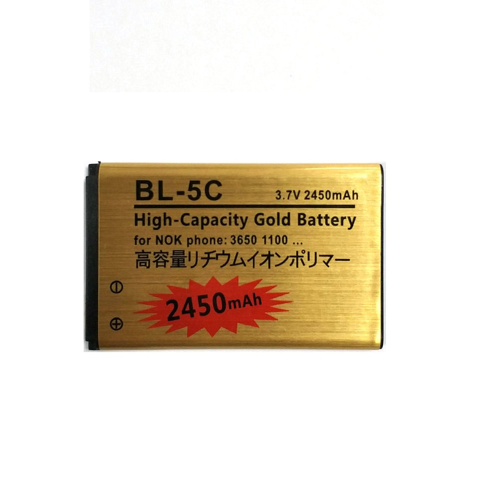 5 X 2019 New 2450mAh BL-5C Gold Battery For <font><b>Nokia</b></font> 1100 1101 1112 1200 1208 1209 1600 <font><b>1650</b></font> 2300 3100 E50 E60 N70 N71 N72 N91 image