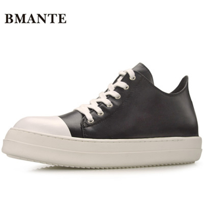 2018 Fashion Luxury Trainers Summer Male Adult Shoes Casual Lace-up Flats Spring Black Shoes New Men Genuine Leather Shoes 2016 spring summer new old leather lace round japanese casual shoes retro fashion leather shoes