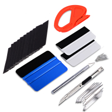 FOSHIO Car Stickers Window Tint Tool Set Carbon Fibre Foil Vinyl Film Wrap Cutter Squeegee Felt Art Knife Accessories