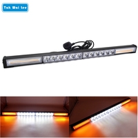Tak Wai Lee 1Pcs 76W 66CM COB & LED Strobe Flash Warning Car Light Bar 13 Modes Styling High/Low Beam Police Emergency Fog Lamp