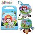 Livro de Pano do bebê Das Crianças Das Crianças Brinquedos Educativos Tecido Macio Ovelhas Pé de Elefante no Ensino de Inglês Livro Tranquila Para Bebês Recém-nascidos