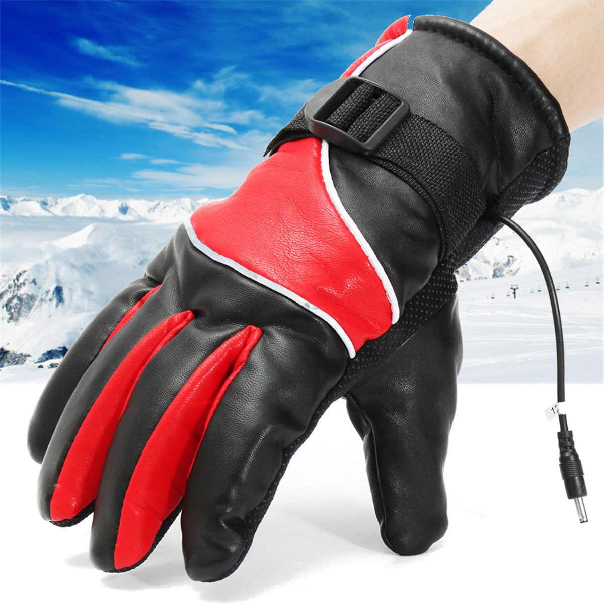 1 Pair 12V Motorcycle Bike Winter Warm Gloves Electric Heated Gloves Waterproof Fashion Ski Gloves For Outdoor Work Riding 1 pair 4000mah rechargeable battery with smart switch on off electric heated warm glove winter outdoor work ski warmer gloves