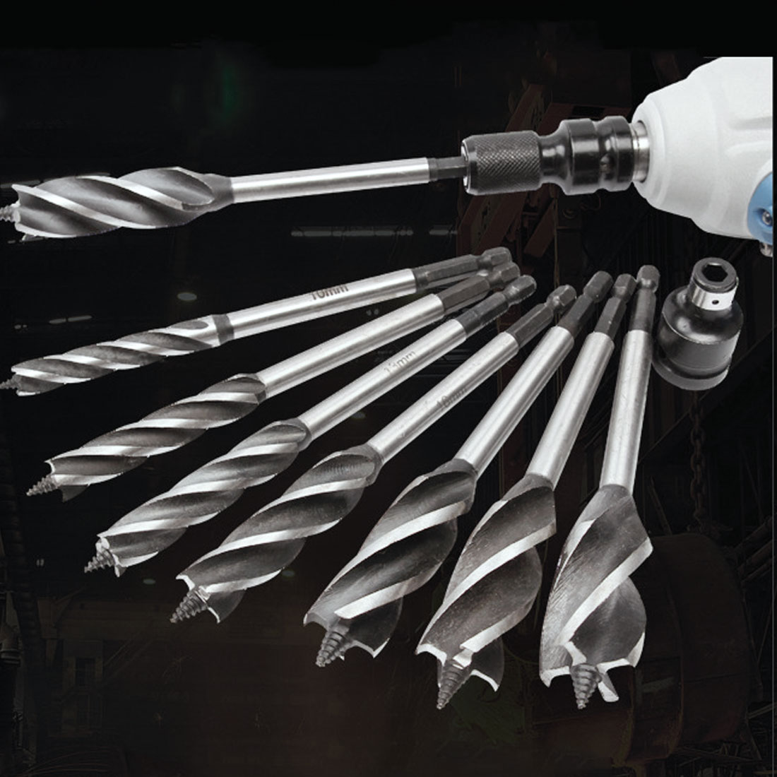 Fast Cut Auger 1pc 10-25mm Twist Drill Bit Set Wood Carpenter Joiner Tool Drill Bit For Wood Cut Suit For Woodworking