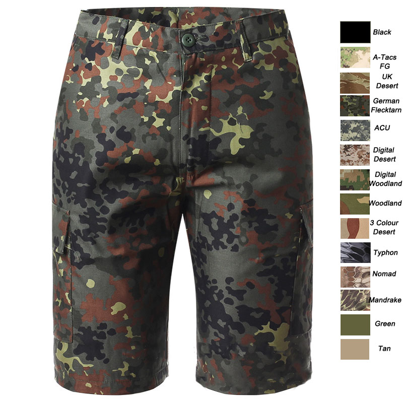 Outdoor Woodland Hunting Shooting Battle Dress Uniform Tactical BDU Combat Clothing  Pants Camouflage Shorts