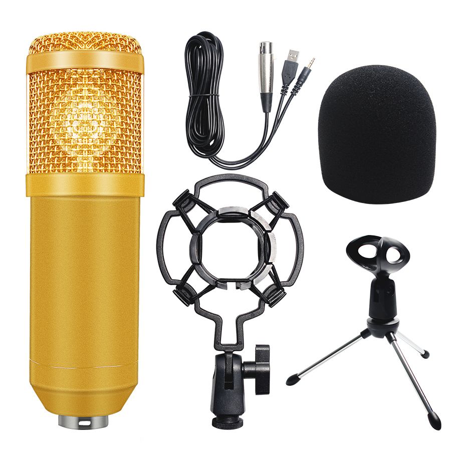 BM 800 Microphone Condenser Sound Recording Microphone Kit Shock Mount+Foam Cap+Cable  For Radio Broadcasting SingingBM 800 Microphone Condenser Sound Recording Microphone Kit Shock Mount+Foam Cap+Cable  For Radio Broadcasting Singing