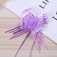 10 шт./компл. Pull ленты лук цветок подарок декоративная обертка для свадебных мероприятий день рождения коробка с рождественскими конфетами DIY подарок бант