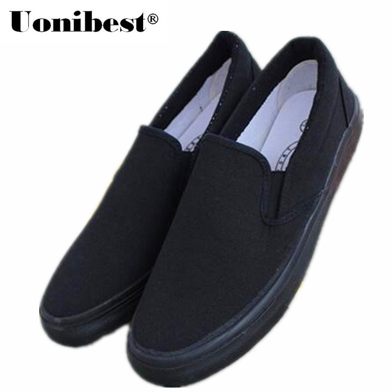 Werkschoenen Groothandel.Voetpedaal Alle Zwarte Loafers Set Voet Vuile Werkschoenen Mannen