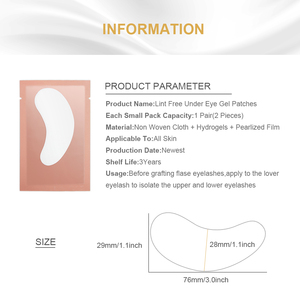 Image 2 - 10/20/50 Pairs Eyelash Pad Gel Patch Grafting Eyelashes Under Eye Patches For Eyelash Extension Paper Sticker Wraps Makeup Tools