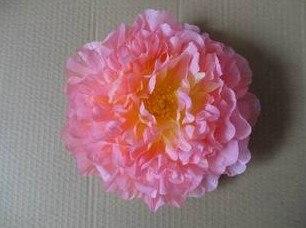 76 шт. искусственная ткань 12 слоев 16 см Открытый Пион цветок голова для Diy Ювелирные изделия Свадьба Рождество U выбрать цвет - Цвет: peach